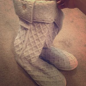 Knit UGG boots